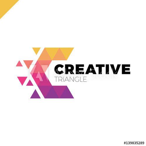 d976fecf2d Letter C Creative Triangle Color Logo Design Template | Logos