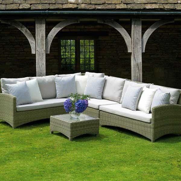 Bramblecrest Cotswold Large Rattan Corner Sofa Set