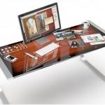 My future desk...: Offices Desks, Computers, Gadgets, Technology, Idesk Concept, Microsoft Surface, Apples, Products, Design