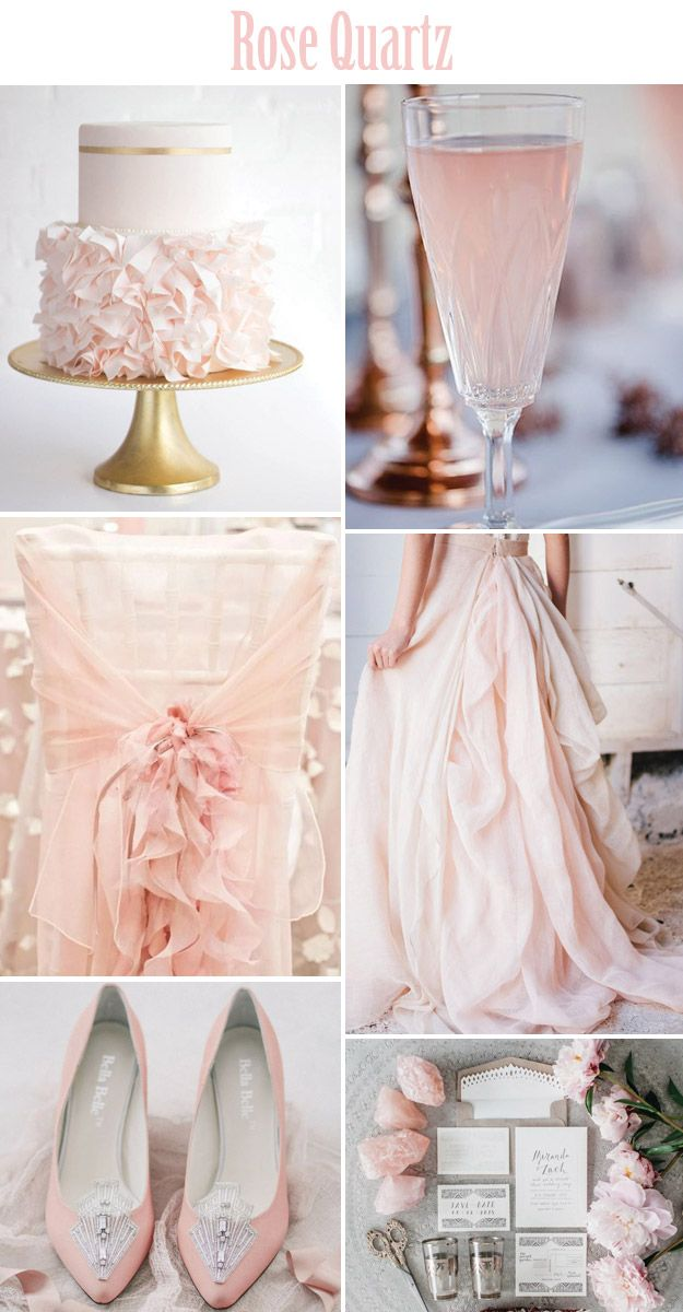 rose quartz 2016 #Pantone color of the year #rosequartz #pinkwedding #blushwedding