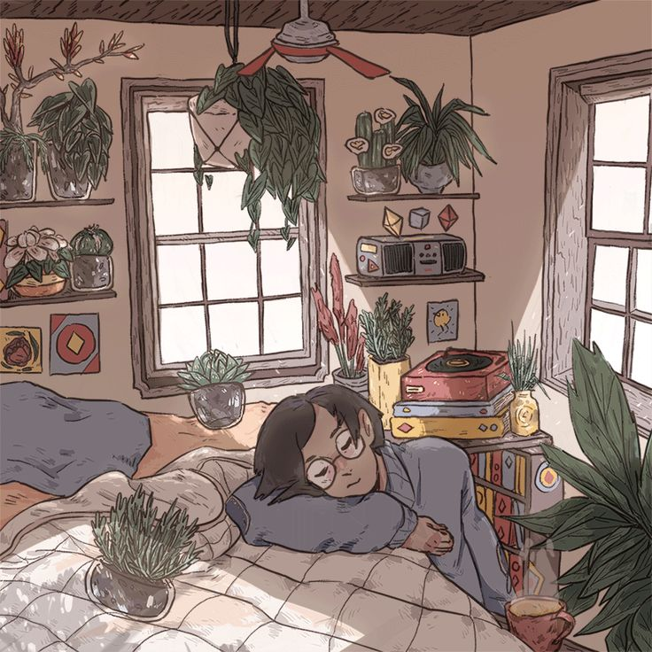 """culturenlifestyle: """"Whimsical Animated GIFs Capture the Beauty of Solitude by Ivy Berces Sixteen-year-old artist Ivy Berces composes stunning whimsical illustrations, which pay an homage to the beauty..."""