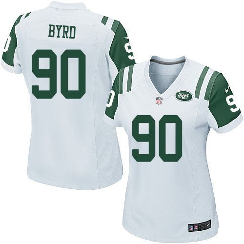 NFL New York Jets Dennis Byrd Women Limited White #90 Jerseys