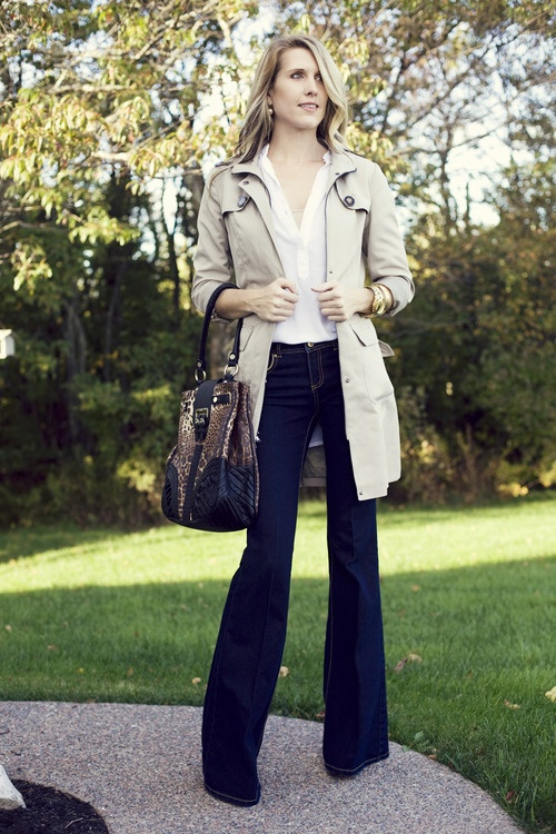 Kenneth Cole trench & Rachel Zoe denim