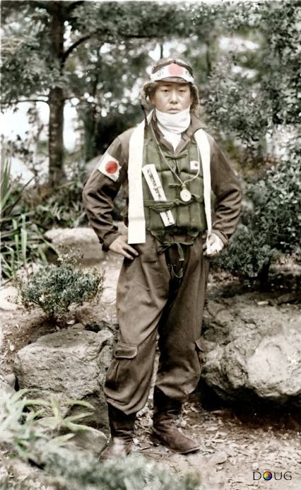 Japan. Imperial Japanese Navy Pilot, WWII