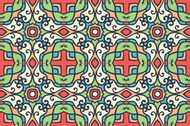 Free Decorative Floral Seamless Pattern Preview