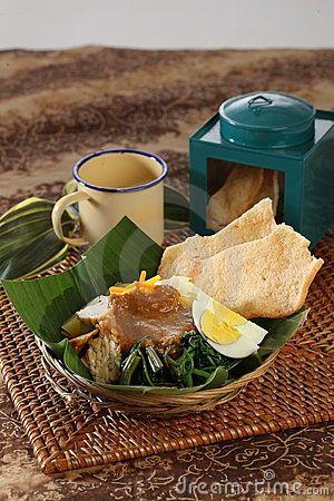 Gado-gado- Indonesian style salad with peanut sauce dressing