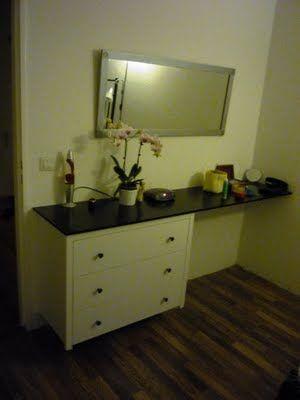 vanity desk dresser combo ikea hack master bedroom ideas pinterest. Black Bedroom Furniture Sets. Home Design Ideas