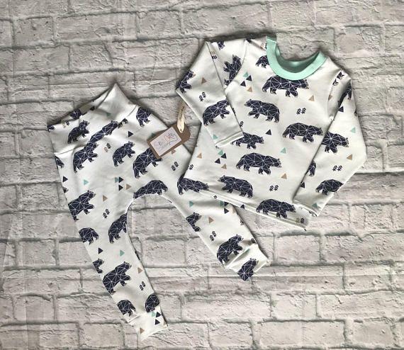 Baby matching set top and trouser set top and harem set