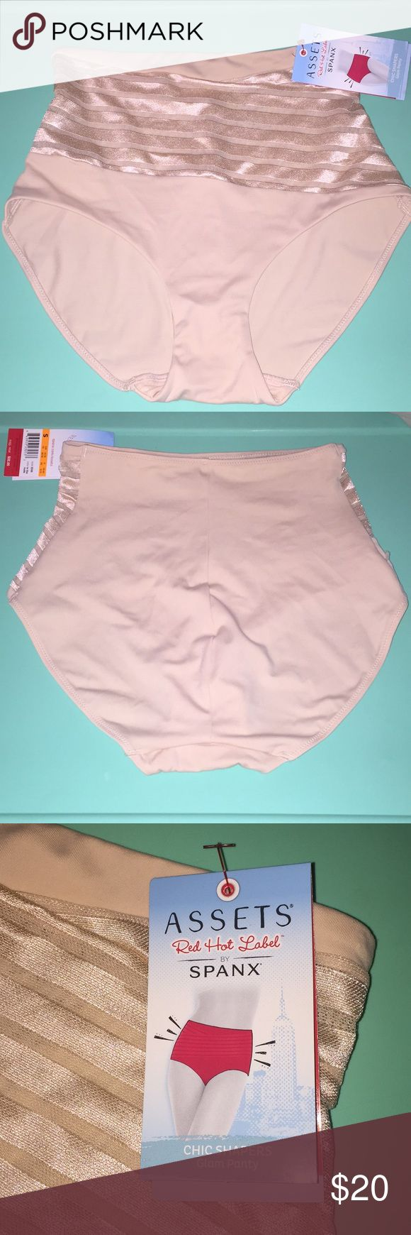 NWT Assets by Spanx chic shapers glam panty New with tags. Shaper panties. Assets by Spanx brand. Original cost $32. Assets By Spanx Intimates & Sleepwear Shapewear