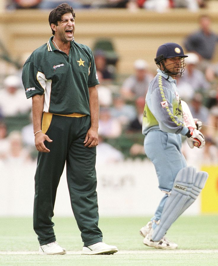 "Tendulkar & Waqar Younis made their Test debuts together, but only played 4 Tests against each other. Frosty India-Pakistan relationships meant Tendulkar did not get as many opportunities against the neighbours. But there were plenty of interesting encounters in ODI cricket. When Abdul Razzaq dropped Tendulkar during his dazzling 98 in the 2003 World Cup game, Wasim Akram is said to have put his hands up in exasperation and yelled, ""(Do you know whose catch you've dropped?)"""