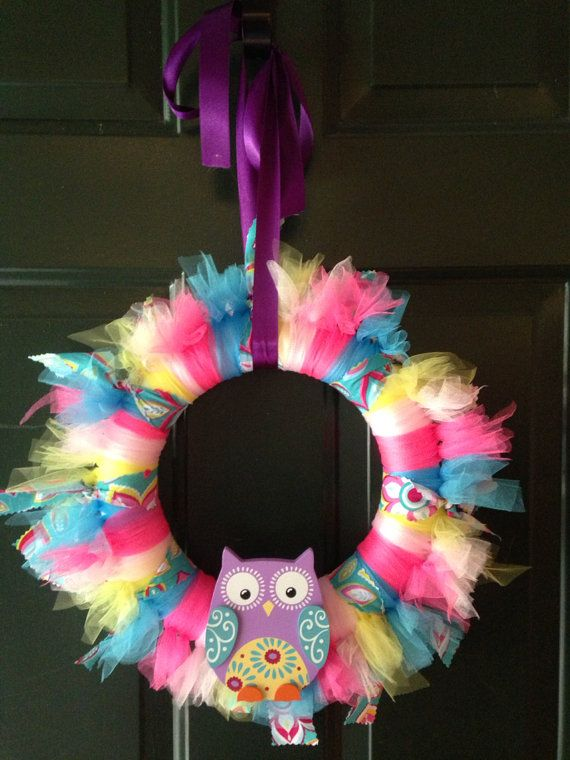 Owl wreath on Etsy, $30.00