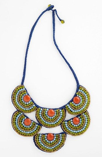 Panacea Corded Rope Bib Necklace available at #Nordstrom