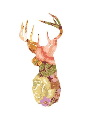 Floral Stag - East End Prints