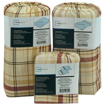 Mainstays 200-Thread-Count Sheet Collection, Open Stock, Available in Various Styles and Colors, Red
