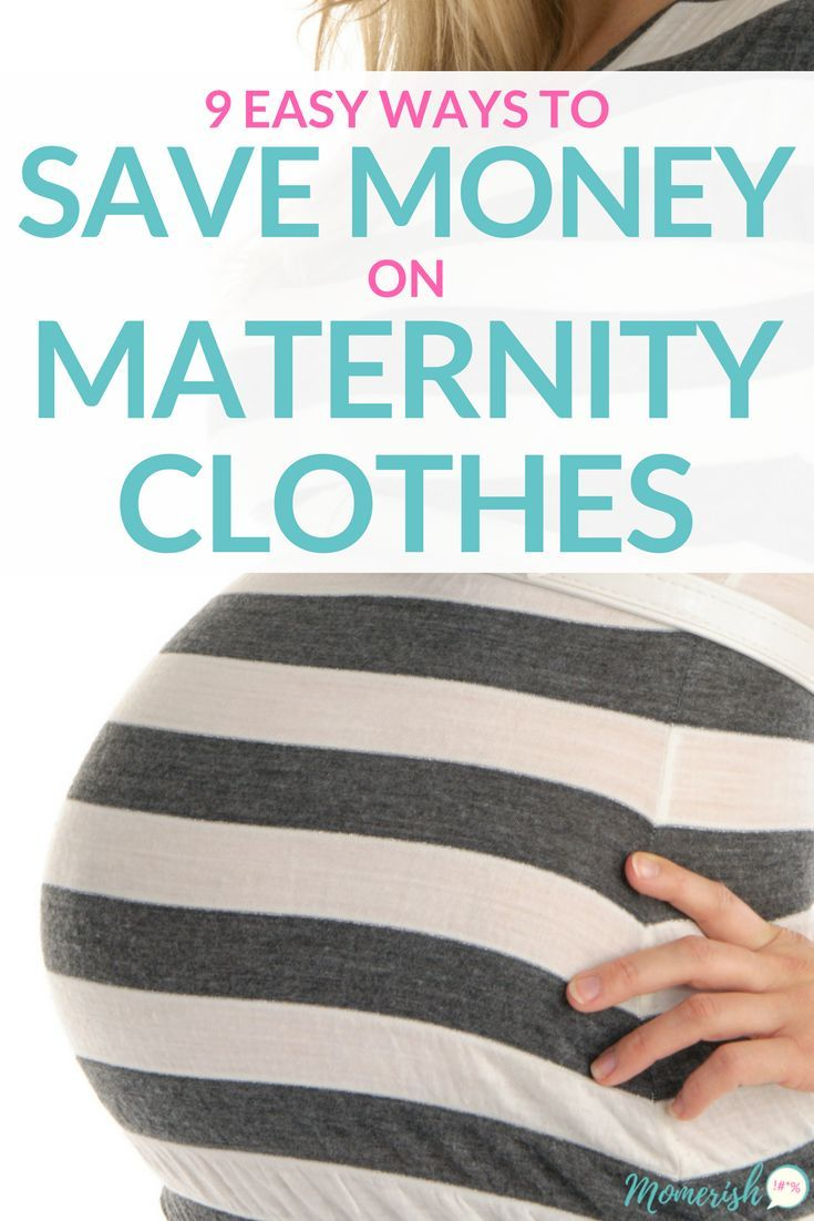Maternity Clothes on a Budget - Learn 9 easy ways you can save money on maternity clothing! via @keciahambrick