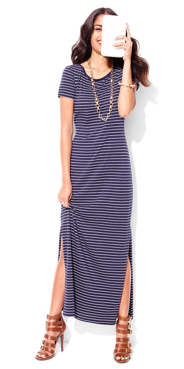All you need is one classic maxi dress for an effortless day-to-night summer outfit.