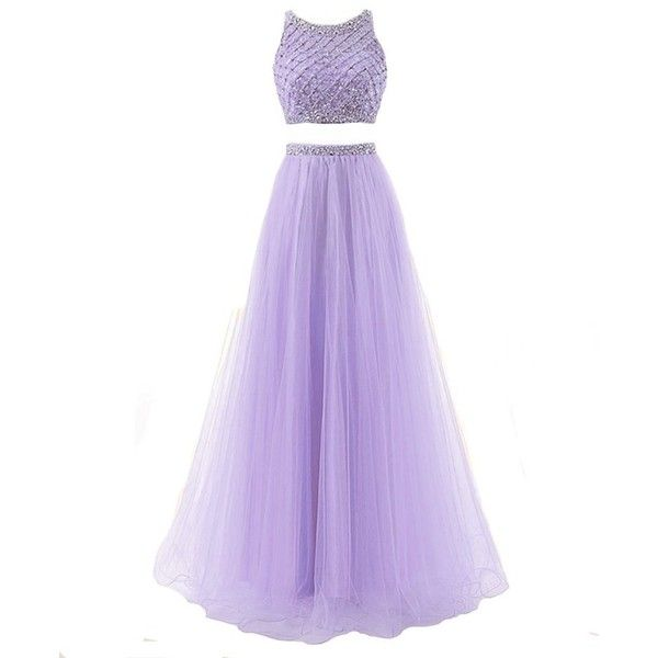 Lisa Two Piece Beading Bodice Prom Dresses 2017 Long Party Gowns LS26... ($88) ❤ liked on Polyvore featuring dresses, gowns, long purple dress, long dresses, long gown, purple evening gowns and 2 piece prom dresses
