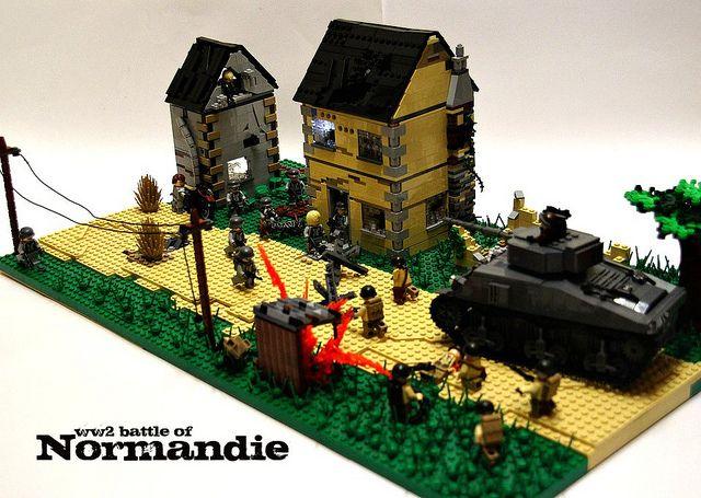 Lego ww2 battle in normandy lego military pinterest for Siege lego france
