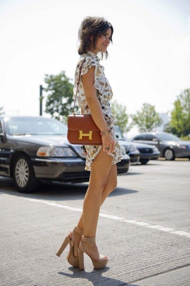 #romper, nude heels + #ToryBurch