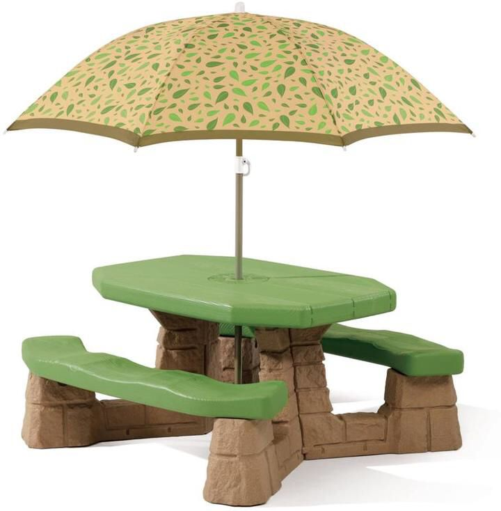 #affiliatelink Step 2 Naturally Playful Picnic Table with Umbrella