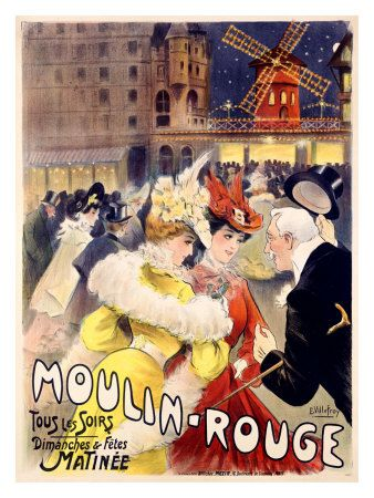Vintage Posters - Moulin Rouge. The Theatre Ads.