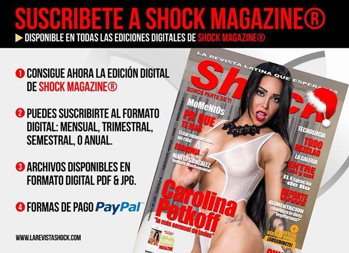 SUSCRIBETE A SHOCK MAGAZINE®. DISPONIBLE PARA TODAS LAS EDICIONES http://www.larevistashock.com/suscripcion-digital.htm