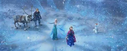 Elsa discovers that she can unfreeze the winter when she feels love, her ice powers are controlled by her emotions