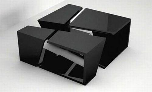 Moderne attraktive Couchtische fürs Wohnzimmer – 50 coole Bilder - trendy eigenartige kaffeetische schwarz platten