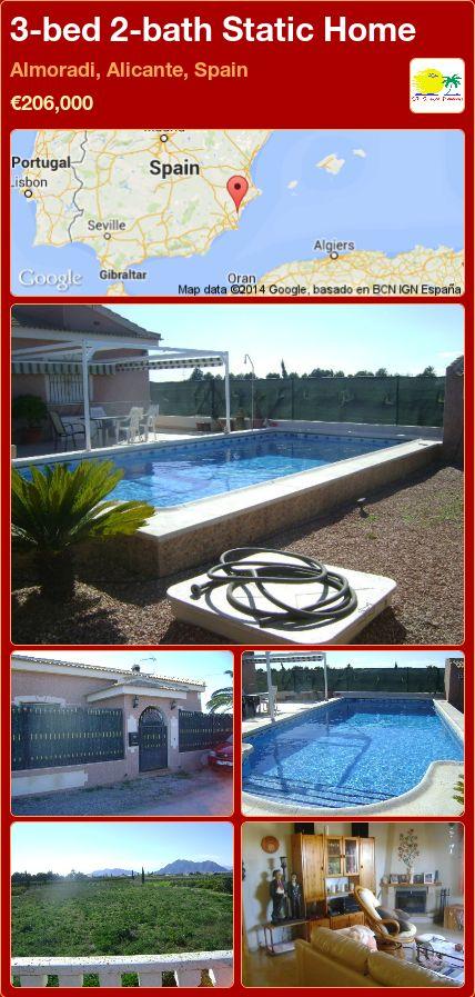 3-bed 2-bath Static Home for Sale in Almoradi, Alicante, Spain ►€206,000