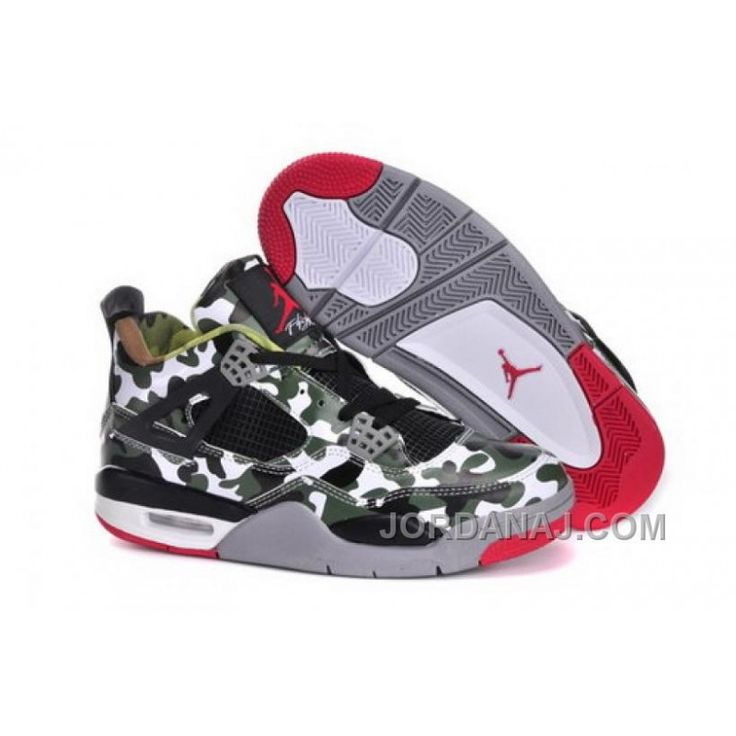 Spain Nike Air Jordan 4 Iv Retro Mens Shoes Camo Green, Price: $89.00 - Air Jordan Shoes, 2016 New Jordan Shoes, Michael Jordan Shoes - JordanAJ.com