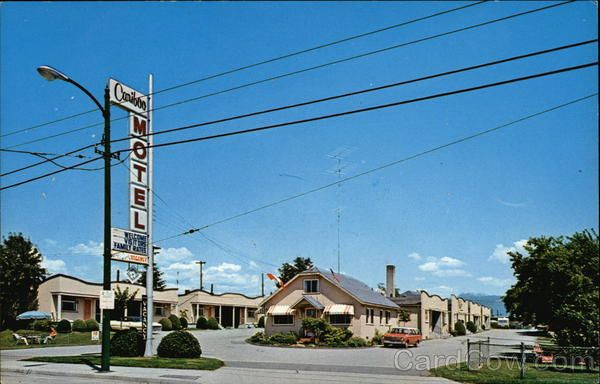 Cariboo Motel & Trailer Park Vancouver Canada British Columbia - This was the motel my folks owned! Postcard available for 15 bucks