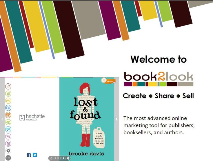 Welcome to book2look   Create, Share, Sell ::    The most advanced online marketing tool for publishers, booksellers, and authors.