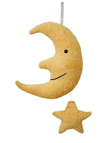 Mond-Spieluhr mit Stern, Melodie Mozarts Wiegenlied ca 33€ | Geschenk-Idee zur Geburt