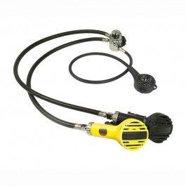 Poseidon Single Kit Jetstream MK3 Regulator Set with Pressure Gauge Black