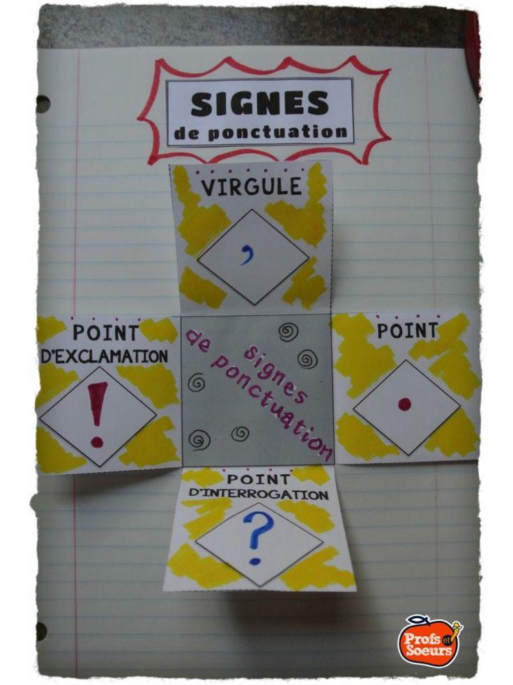 Signes de ponctuation sur cahier interactif