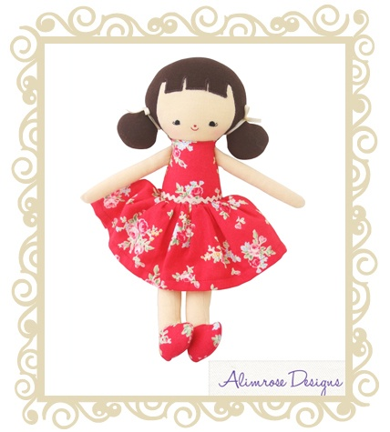 Alimrose Designs Audrey Doll Red