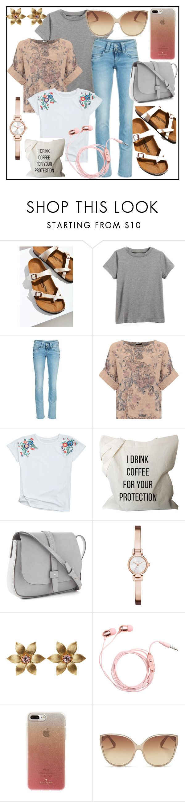 """Summer in the city"" by izostworekblogspot on Polyvore featuring moda, Birkenstock, Pepe Jeans London, WearAll, Gap, DKNY, Kate Spade, Linda Farrow i plus size clothing"