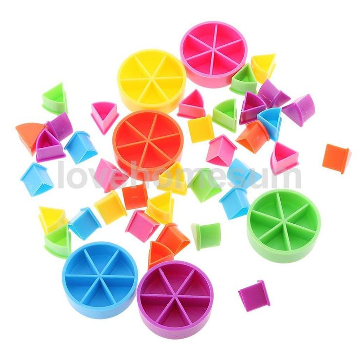 Pack of 42 Pieces Trivial Pursuit Game Pieces Pie Wedges for Math Fractions  | eBay