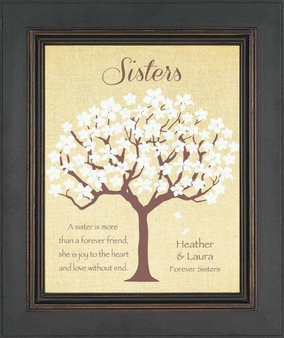 SISTERS Personalized GiftBirthday Gift for SisterWedding Day Gi ...