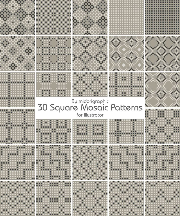 mosaic patterns | mosaic pattern by midorigraphic