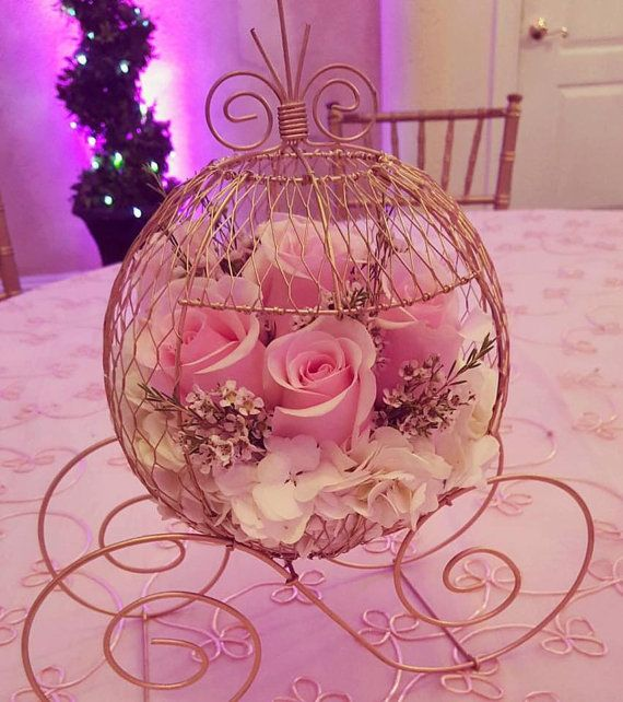 Princess Carriage Fairytale Centerpiece by PoshPartyPalace on Etsy