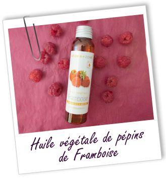 Huile végétale Framboise Aroma-Zone Riche en vitamine E utile pour la tonicité de la peau, et en carotènes, cette huile prévient le vieillissement de la peau. Connue comme cicatrisante et anti-inflammatoire, elle soulage les démangeaisons.