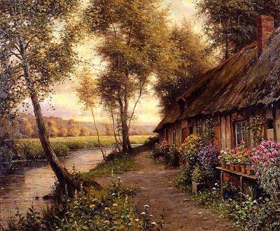 Beautiful+Landscape+Paintings | Beautiful Landscape Painting by Louis Aston Knight (1873-1948 ...