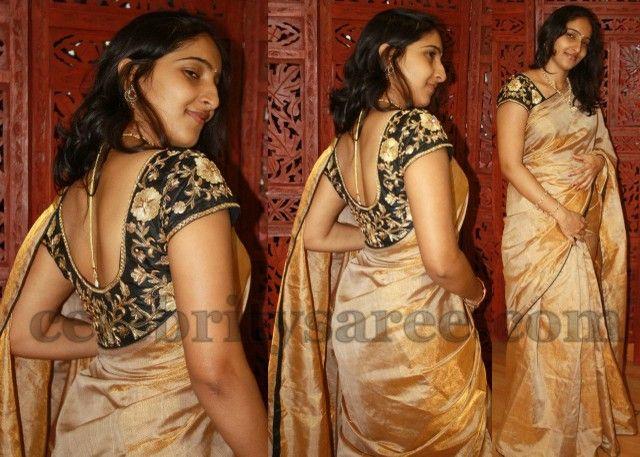 Uppada Tissue Saree with Heavy Blouse | Saree Blouse Patterns