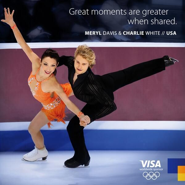 Meryl Davis and Charlie White in Sochi 2014.
