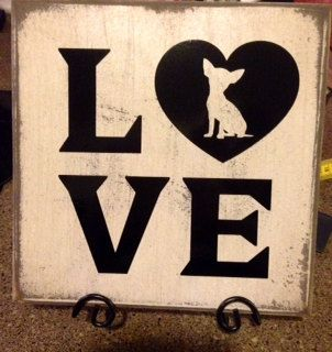 Chihuahua Love by NightOwlCreations2 on Etsy, $15.00