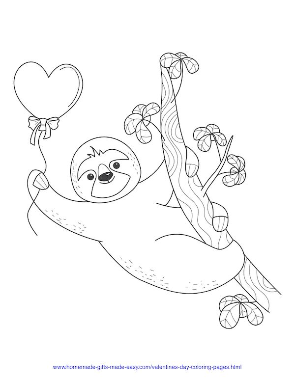 40+ Valentine's Day Coloring Pages PDF Printables in 2020 ...