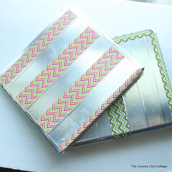 Back to School Binders Customized with Duck Tape