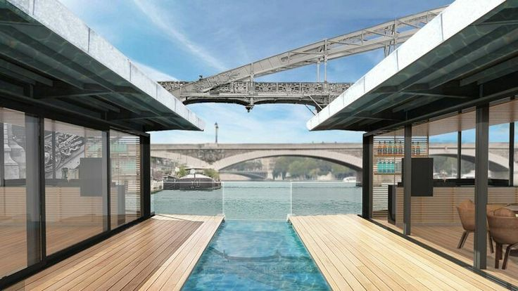Visit the first hotel on water on the Seine! #hotel #paris