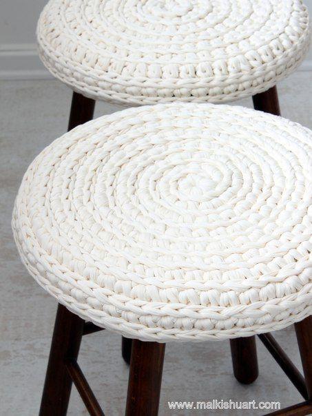 Вязание из трикотажной пряжи Лента ✔ Подпишись